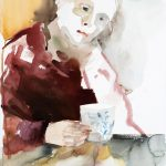 Haworth, watercolour on paper, 61 x 43 cm, 2017