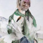 Kiiruna, watercolour on paper, 76 x 56 cm, 2017