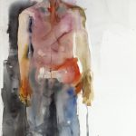 Lähetti, watercolour on paper, 152 x 95 cm, 2013